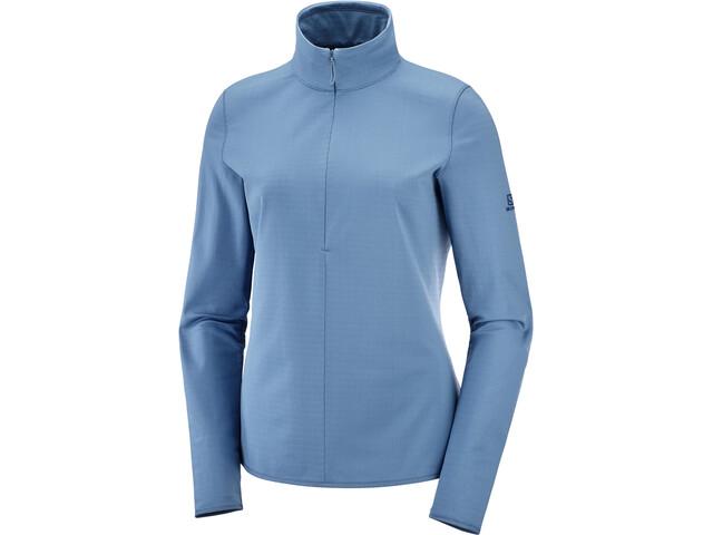 Salomon Outrack Shirt met Halve Rits Dames, copen blue
